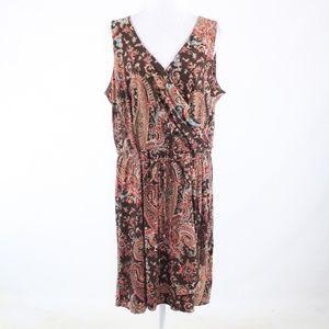Lauren Ralph Lauren brown beige wrap dress 2X
